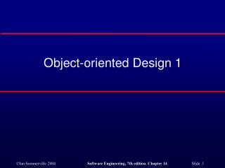 Object-oriented Design 1