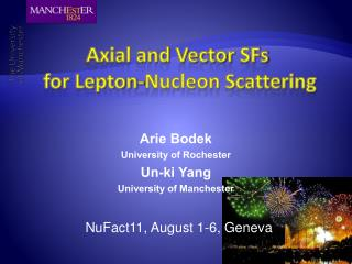 Axial and Vector  SFs  for L epton -Nucleon  Scattering