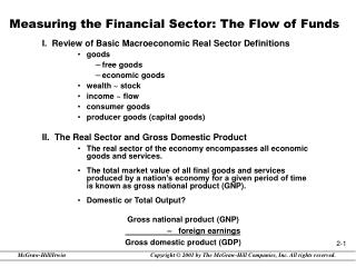 Measuring the Financial Sector: The Flow of Funds