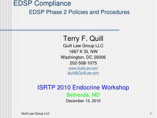 EDSP Compliance EDSP Phase 2 Policies and Procedures