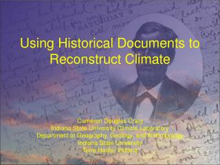 Using Historical Documents to Reconstruct Climate