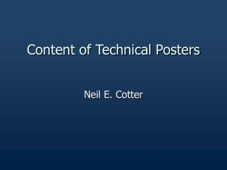 Content of Technical Posters
