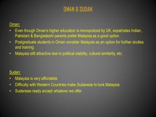 OMAN & SUDAN