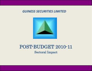 POST-BUDGET 2010-11 Sectoral Impact