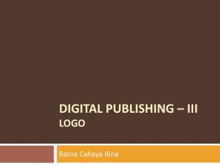 DIGITAL PUBLISHING – iii LOGO