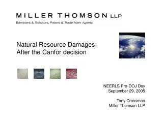 Natural Resource Damages: After the Canfor decision