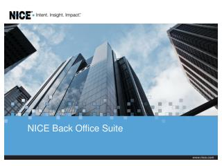 NICE Back Office Suite