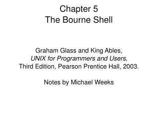 Chapter 5 The Bourne Shell