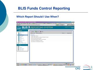 BLIS Funds Control Reporting