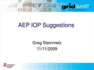 AEP IOP Suggestions