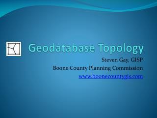 Geodatabase Topology