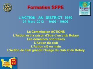 Formation SFPE