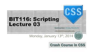 BIT116: Scripting Lecture 03