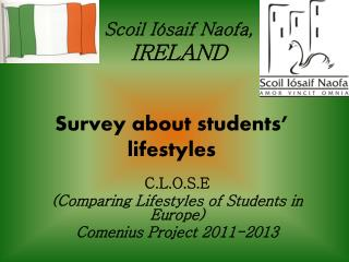 Survey about students' lifestyles