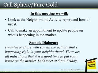 Call Sphere/Pure Gold