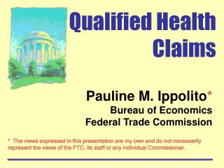 Qualified Health Claims