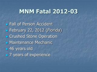 MNM Fatal 2012-03