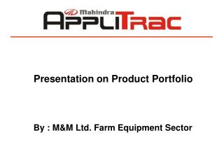 Presentation on Product Portfolio