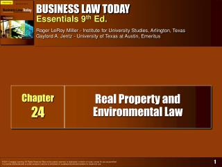 Real Property and Environmental Law