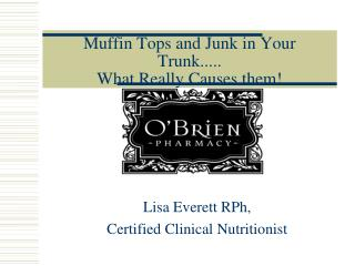 Muffin Tops and Junk in Your Trunk..... What Really Causes them!