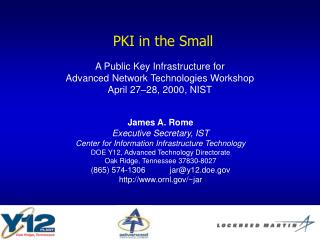PKI in the Small