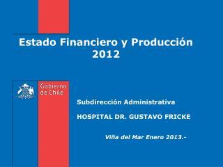 Estado Financiero y Producción  2012