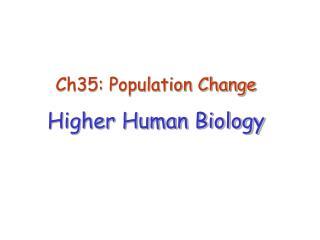 Ch35: Population Change Higher Human Biology