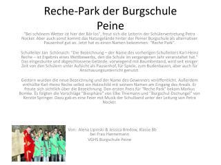 Reche-Park der Burgschule  Peine