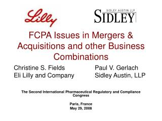 FCPA Issues in Mergers & Acquisitions and other Business Combinations