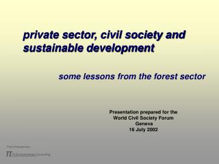private sector, civil society and sustainable development