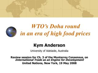 WTO's Doha round  in an era of high food prices