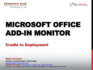 Microsoft Office Add-In Monitor