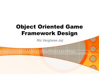 Object Oriented Game Framework Design