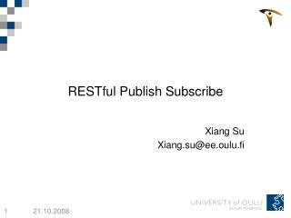 RESTful Publish Subscribe