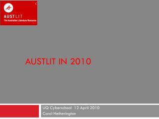 AustLit  in 2010