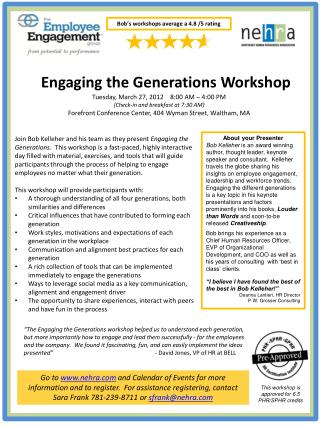 Engaging the Generations Workshop