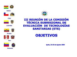 Quito, 24-25 de Agosto 2009