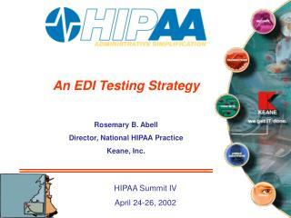 An EDI Testing Strategy