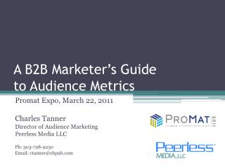 A B2B Marketer's Guide to Audience Metrics