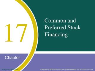 Common and  Preferred Stock  Financing