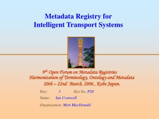 Metadata Registry for Intelligent Transport Systems