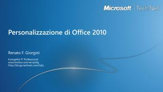 Personalizzazione di Office 2010