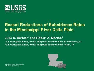 Recent Reductions of Subsidence Rates in the Mississippi River Delta Plain
