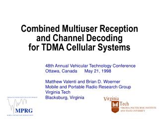 Combined Multiuser Reception and Channel Decoding for TDMA Cellular Systems
