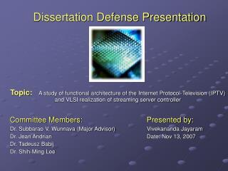 Dissertation Defense Presentation