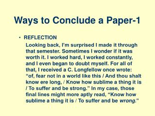 Ways to Conclude a Paper-1