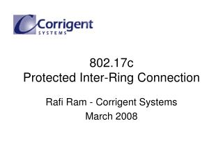 802.17c Protected Inter-Ring Connection