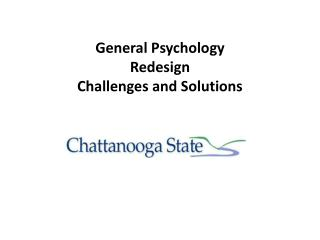 General Psychology  Redesign  Challenges and Solutions