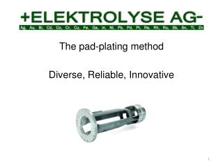 The pad-plating method Diverse, Reliable, Innovative
