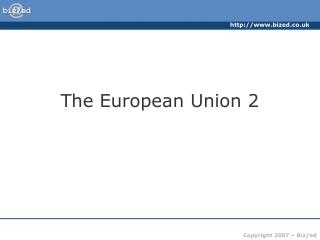 The European Union 2